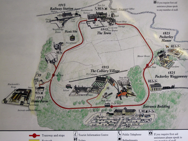 Plan of Beamish Open Air Museum